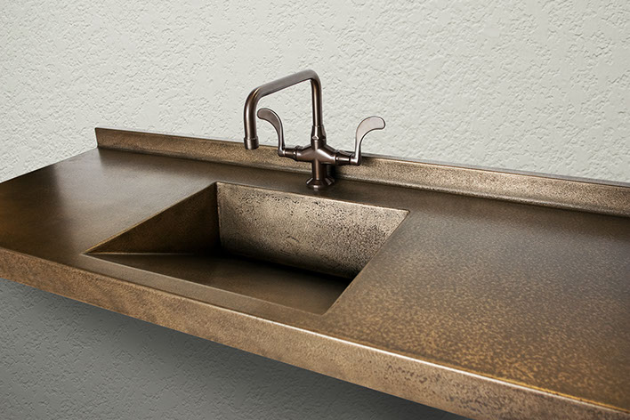 Concrete Sinks and Countertops in Genuine, Soft-Metal Finishes by ...