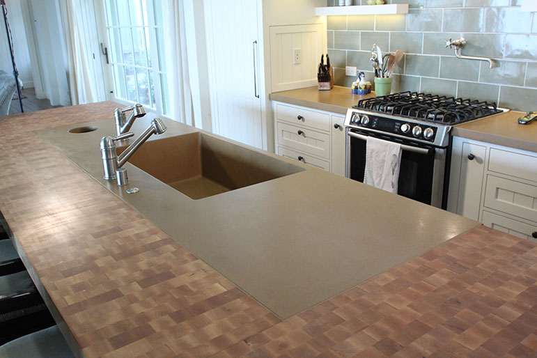 Exceptional Integrated Concrete Kitchen Sink By Sonoma Cast Stone