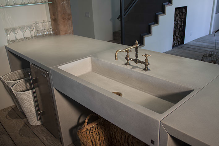 Beau Concrete Farm Sinks For The Kitchen