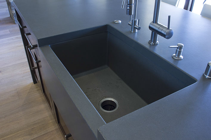 Sonoma cast stone concrete sinks concrete kitchen sinks - How much does lowes charge to install a kitchen sink ...