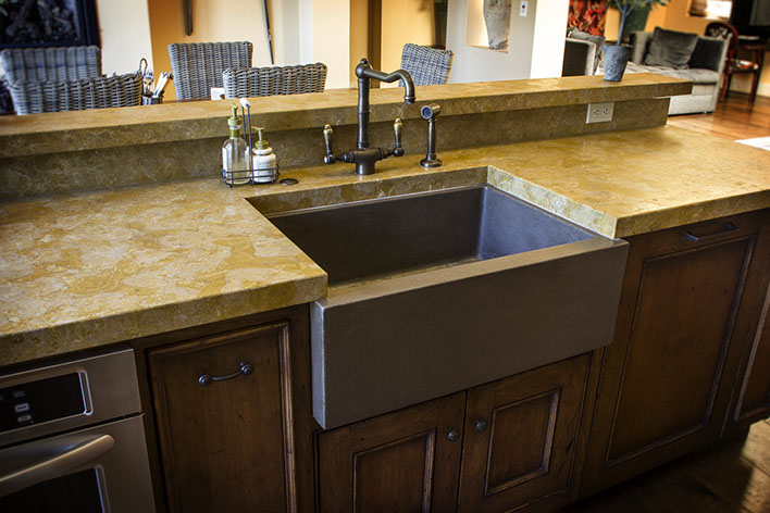 Sonoma Cast Stone Concrete Sinks | Concrete Kitchen Sinks