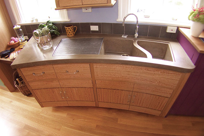 Wonderful Integrated Concrete Chef Sinks