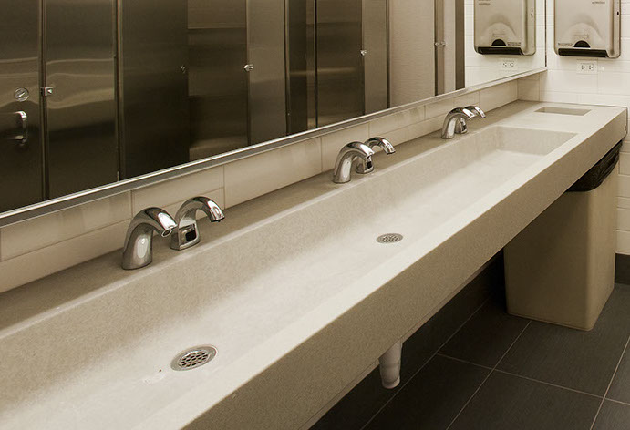 Concrete Trough Sinks For Restrooms