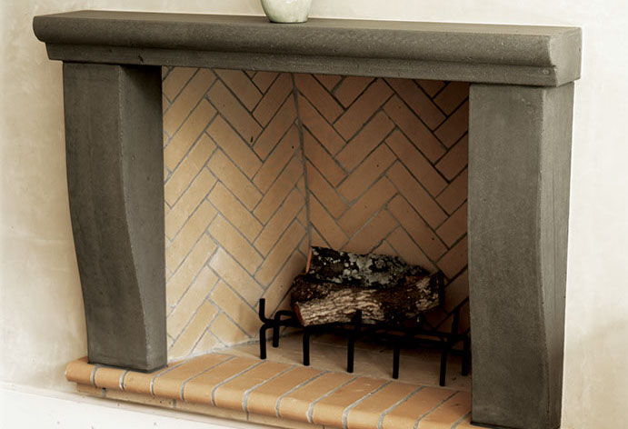Traditional Concrete Fireplace Surround by Sonoma Cast Stone - Concrete Fireplaces And Concrete Fireplace Surrounds By Sonoma