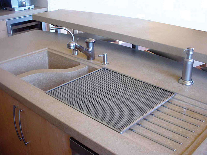 Sonoma cast stone concrete sinks concrete kitchen sinks workwithnaturefo