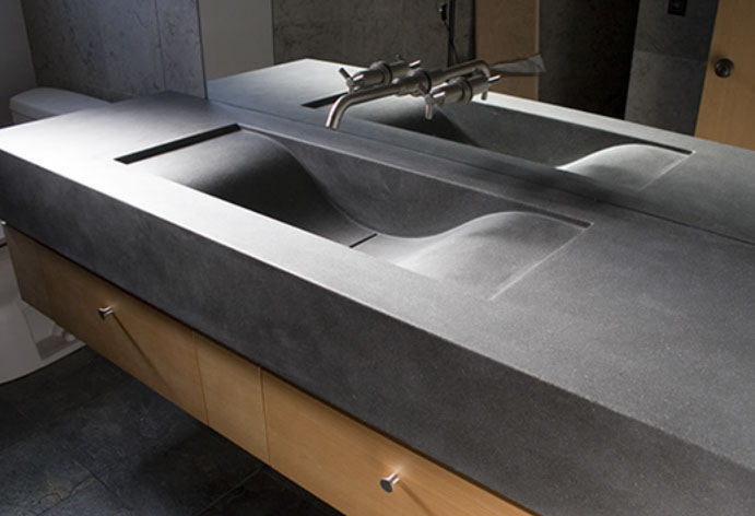 concrete bath sinks by sonoma cast stone. Black Bedroom Furniture Sets. Home Design Ideas