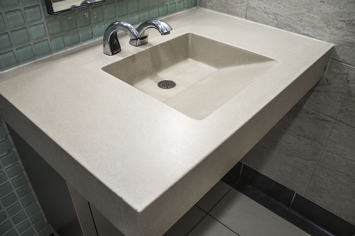 Amazing Concrete Ramp Sinks For Restrooms