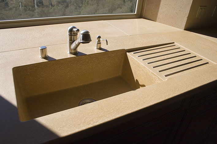 Beau Integrated Concrete Kitchen Sinks