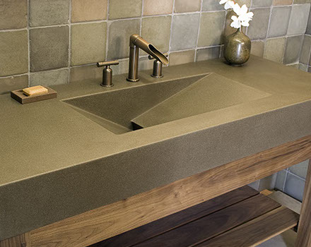 100 concrete kitchen sinks best 20 concrete countertops ide