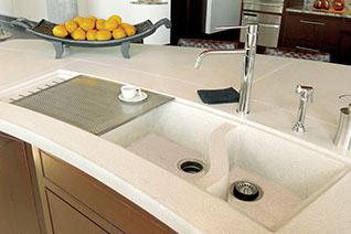 concrete countertops and concrete sinks in the home rh sonomastone com kitchen sinks and countertops Kitchen Sink and Countertop Combo