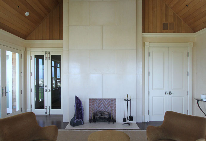 concrete fireplace surround by sonoma cast stone