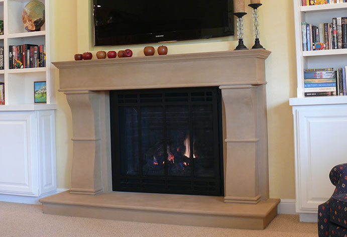 Traditional Concrete Fireplace Surround By Sonoma Cast Stone