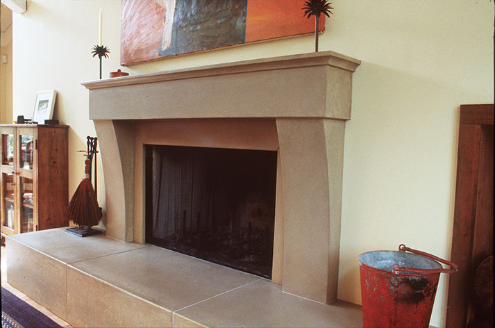 Custom concrete fireplaces and custom concrete fireplace surrounds by Sonoma Cast Stone.